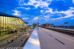 Terminal moderne de Lech Walesa Airport à Danzig Images libres de droits