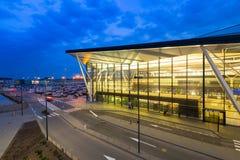 Terminal moderne de Lech Walesa Airport à Danzig Image stock