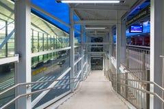 Terminal moderne de Lech Walesa Airport à Danzig Photos libres de droits