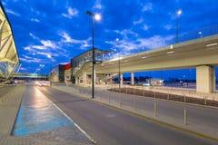 Terminal moderne de Lech Walesa Airport à Danzig Photo libre de droits