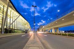Terminal moderne de Lech Walesa Airport à Danzig Photos stock