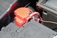 Terminal na automobilowej baterii Zdjęcie Royalty Free
