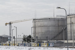 Terminal naftowy obraz stock