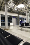 Terminal no aeroporto fechado Fotografia de Stock Royalty Free