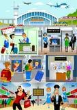 terminal ilustração royalty free