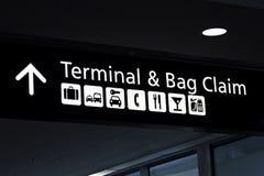 Terminal- och påsereklamation Royaltyfria Foton