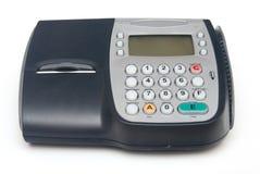 Terminal par la carte de crédit fixe Image stock