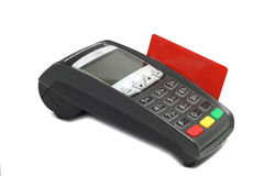 Terminal for payment cards Stock Image