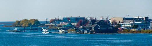 Terminal plano del flotador de Vancouver foto de archivo libre de regalías