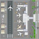 Terminal pour passagers d'aéroport illustration libre de droits