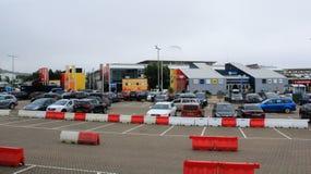 Terminal pour passagers d'Eurotunnel Le Shuttle photo stock