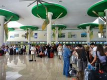 Terminal 2 in Punta Cana International Airport, Dominican Republic Royalty Free Stock Image
