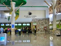 Terminal 2 in Punta Cana International Airport, Dominican Republic. Terminal 2 in Punta Cana International Airport. The Dominican Republic is the most visited Royalty Free Stock Images