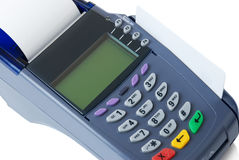 The terminal with a pure credit card Royalty Free Stock Image