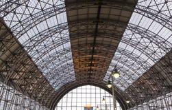Terminal railway de Kiyevsky da estação de trem de Kiyevskaya, Kievskiy vokzal -- Moscou, Rússia foto de stock