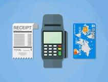 Terminal, receipt, card Stock Photo