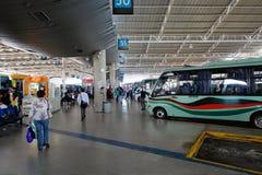 Terminal rural do barramento. Santiago, o Chile. fotos de stock royalty free