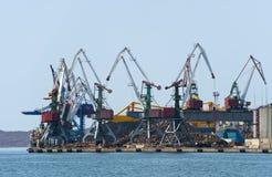 Terminal at russian cargo port Vladivostok Stock Image