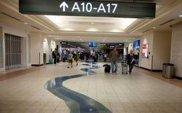 Terminal  Sacramento International Airport, California. Terminal area of the Sacramento International Airport, California Stock Photo