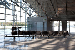 Terminal seats. Seats in an terminal of an airport Royalty Free Stock Images