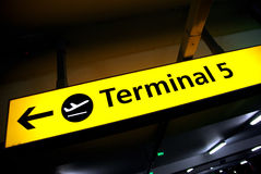 Terminal sign in an airport Royalty Free Stock Images