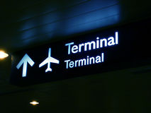 Terminal Sign Board Stock Photos