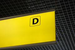 Terminal sign D at the airport Royalty Free Stock Photos