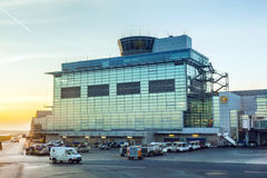 Terminal 2 in sunset Royalty Free Stock Image