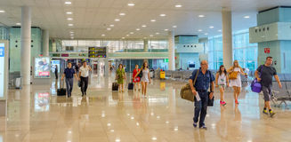 Terminal T1 of El Prat-Barcelona airport Royalty Free Stock Photo