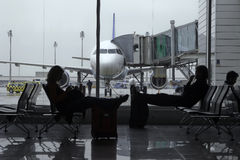 terminal vänte Royaltyfria Foton