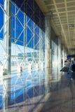 Terminal vide de départ d'aéroport intérieur et son Image libre de droits