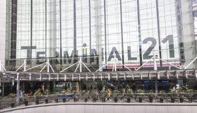 Terminal 21 zakupy centrum handlowe w Bangkok Fotografia Royalty Free