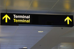 Terminal znak Zdjęcie Stock