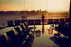 Terminalankunft/deportures Stockfoto