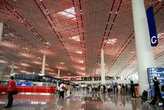 Terminale 3 dell'aeroporto del capitale di Pechino Immagine Stock Libera da Diritti