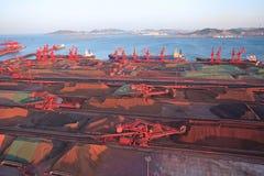 Terminale del minerale metallifero immagini stock libere da diritti