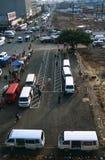 Terminale del trasporto pubblico, Sudafrica fotografia stock libera da diritti