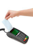 Terminale della carta di credito Fotografia Stock
