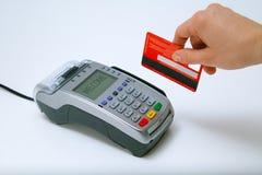 Terminale della carta di credito Fotografia Stock Libera da Diritti