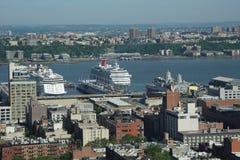 Terminale della nave passeggeri di New York Fotografia Stock