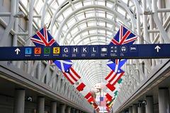 Terminale di aeroporto internazionale Immagine Stock