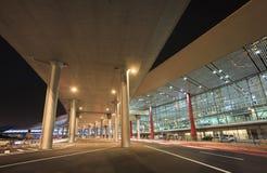 Terminale di aeroporto internazionale capitale di Pechino 3 alla notte Fotografia Stock