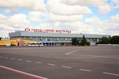 Terminale di aeroporto nella città di Volgograd immagine stock libera da diritti