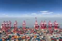 Terminale di contenitore dell'oceano fotografie stock libere da diritti