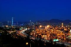 Terminale di contenitore di Hong Kong Immagine Stock Libera da Diritti