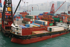 Terminale di contenitore di Hong Kong Fotografia Stock