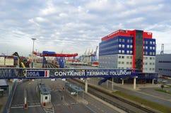 Terminale di contenitore Tollerot Fotografia Stock Libera da Diritti