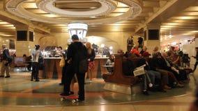 Terminale di Grand Central stock footage