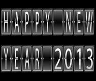 Terminale di nuovo anno felice 2013 Immagini Stock Libere da Diritti