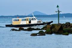 Terminale di traghetto del punto di Changi immagini stock